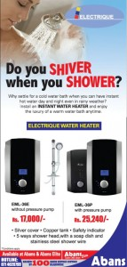 Instant Water Heater for Rs. 17,000 from Abans
