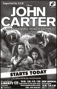 John Carter Screening in Srilanka (Liberty & New Imperial)