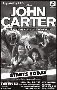 John Carter Screening in Srilanka (Liberty & New Imperial)