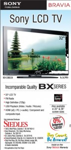 "Sony 32"" LCD TV Rs. 56,990.00 at Siedles"