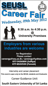 South Eastern University of Srilanka Career Fair on 9th May 2012
