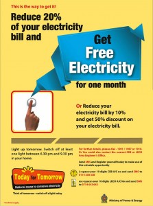 Today for Tomorrow – Energy Saving Scheme by Ministry of Power & Energy, Srilanka