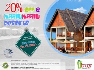 20% off @ Maalu Maalu Resorts (Exclusive price of Rs. 19,200.00 Only) by Ibuy