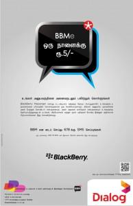 Dialog BlackBerry Messenger Rs. 5.00 per day