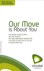 Etisalat Move to New Corporate Office at Colombo 03