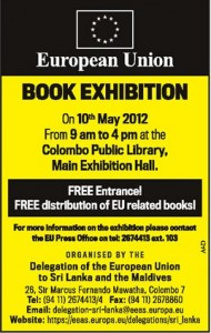 European Union Book Exhibition in Colombo on 10th May 2012