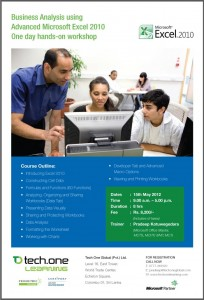 Microsoft Excel. 2010 – One day Workshop in Colombo