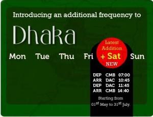 Mihin Lanka Fly Dhaka on Saturdays – Latest Addition