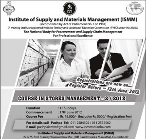Stores Management Courses by ISMM