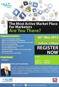 The Most Active Market Places for Marketers – Workshop in Maldives on 26th May 2012
