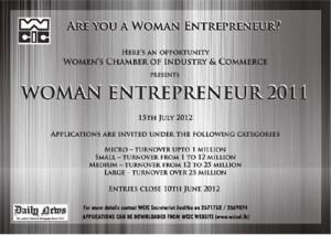 Women Entrepreneur 2012 Awards - Application calls