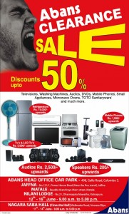 Abans Stock Clearance Sales – Discounts up to 50% from 12th to 16th June 2012
