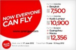 Air Asia Offer for Colombo, Srilanka to Kuala Lumpur and Bangkok