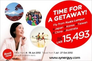 Air Asia Offer for Kuala Lumpur to Japan, Korea, Taiwan, China and Australia just for Rs. 15,493.00