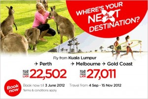 Air Asia Special Offer for Perth, Melbourne and Gold Coast