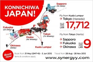 Air Asia Special Offer for Tokyo, Sapporo, Fukuoka and Okinawa