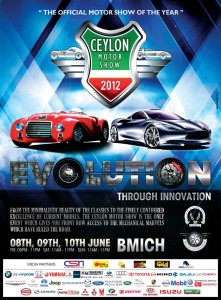 Ceylon Motor Shows 2012 – 8th, 9th and 10th June 2012 at BMICH