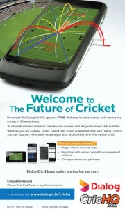 Download Free CricHQ Application Now FREE of Charge from Dialog