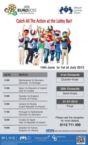 EURO 2012 – Euro Cup 2012 Matches and Celebration on Mount Lavinia Hotel ~ 14th June to 1st July2012