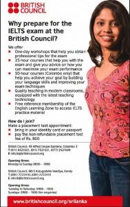 IELTS Exam Classes from British Council Srilanka