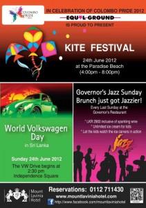 Kite Festival and World Volkswagen day in Srilanka on 24th June 2012