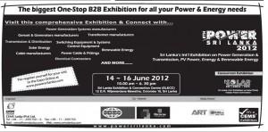 Power Sri Lanka 2012 – 14th, 15th, 16th June 2012 at SLECC