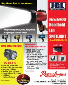 Rechargeable Handheld LED Spotlight for Rs. 3,000.00