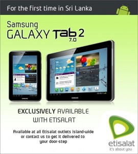 Samsung Galaxy Tab 2 7.0 Features and Prices in Sri Lanka