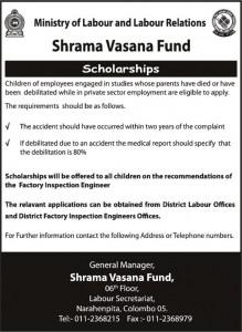 Scholarships for Children of Employee – Sharma Vasana Fund