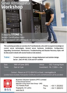 Server Administrator Workshop in Srilanka – 14th June 2012
