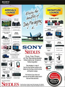 Siedles Duty Free Shop Sony Products and Prices
