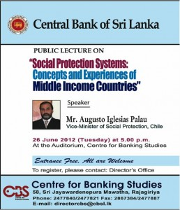 Social Protection Systems: Concepts and Experience of Middle income countries –Public lecture
