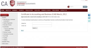 the Institute of Chartered Accounted of Srilanka Result have been released on www.casrilanka