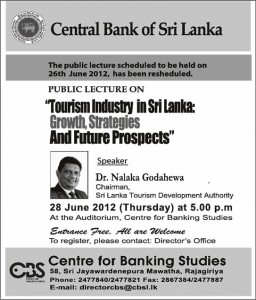Tourism Industry in Srilanka Growth, Strategies and Future Prospects by Dr. Nalaka Godahewa