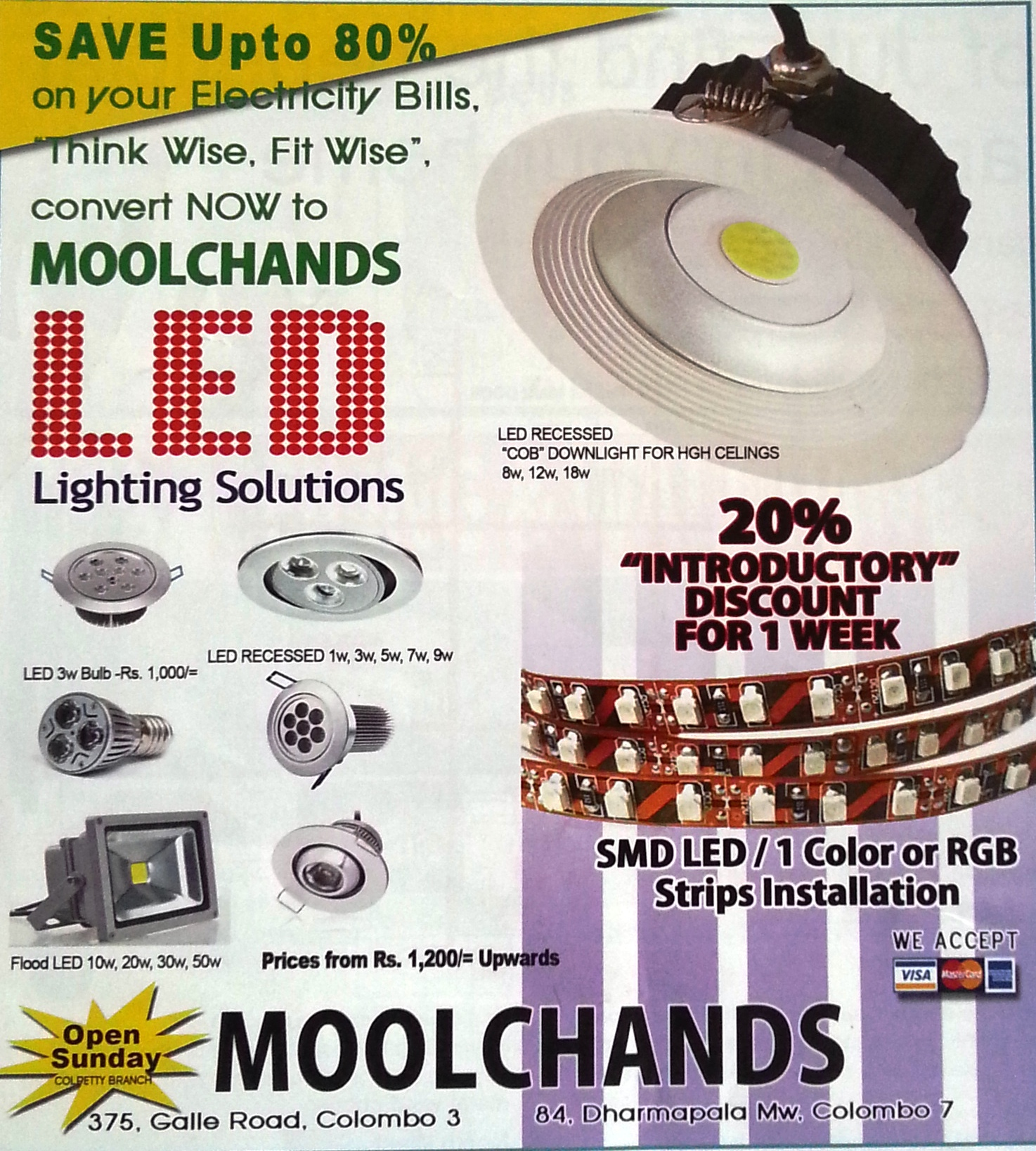 20% Discounts for LED Lighting Solutions for this Week ...