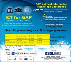 30th National Information Technology Conference 2012 10th to 12th July 2012