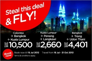 Air Asia New Offer for 16th July to 31st October, 2012