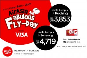 Air Asia New Offer for Kuala Lumpur to Kuching and Semarang 1st July to 31st July 2012