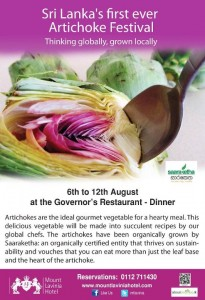 Artichoke Food festivals in Srilanka – Mount Lavinia Hotel
