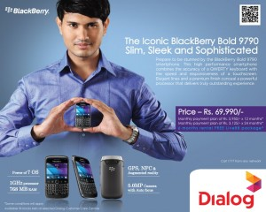 BlackBerry Bold 9790 Slim Rs. 69,990/- in Srilanka