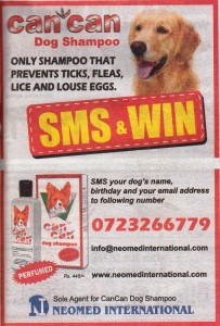 Cancan Dog Shampoo SMS & Win Promotion