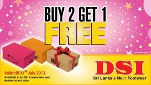 DSI buy 2 get 1 Free offer in Srilanka valid till 31st July 2012