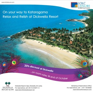 Dickwella Resort 30% Discounts till End October 2012