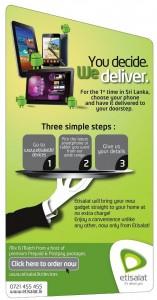 Etisalat MobileTablet FREE Home Delivery Service in Srilanka