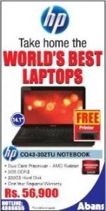 HP CQ 43-302TU Notebook for Rs. 56,900.00