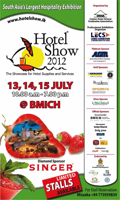 Exhibition Stall Design Sri Lanka : Hotel show in srilanka th and july