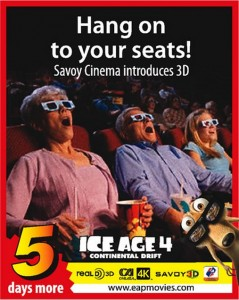 Ice Age 4 Continental Drift on Savoy 3D from 25th July 2012