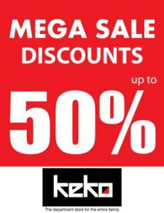 Keko Department Stores Mega Sales Discounts upto 50% in Srilanka