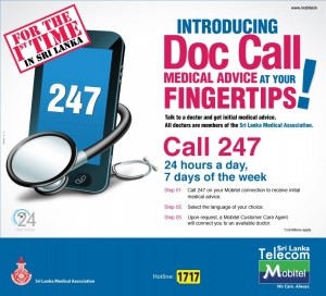 Mobitel Doc Call Medical Advice – One of the Innovative Services in Srilanka