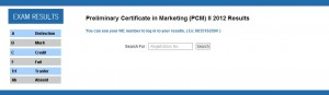 Preliminary Certificate in marketing (PCM) ii 2012 results Released